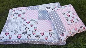 """Úžitkový textil - """"Sovičková"""" patchworková súprava - 11850063_"""