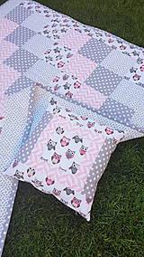 """Úžitkový textil - """"Sovičková"""" patchworková súprava - 11850068_"""
