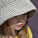 Detské čiapky - Detský klobúčik z ľanu a bavlny...ražný - 11850989_