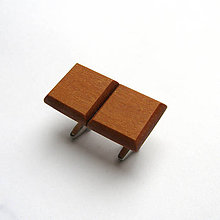 Šperky - Drevené manžetové gombíky - meranti štvoruholníky (nerez) - 11849147_