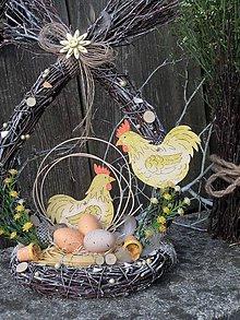 Dekorácie - Veľkonočná dekorácia z brezového prútia - 11857305_