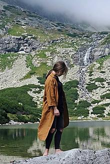Kabáty - Tatry ľanový plášť - 11853756_