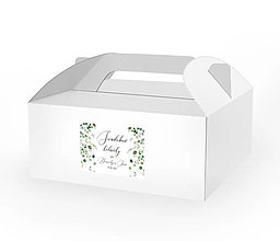 Papiernictvo - Samolepiace etikety na zákusky a darčeky pre hostí Eukalyptové vetvičky - 11854224_