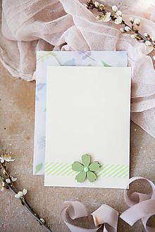 Papiernictvo - Kartička k narodeninám (Zelená) - 11855747_