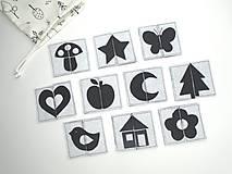 Hračky - Montessori pexeso: čierno-biele - 11855017_