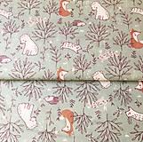 Textil - zvieratká na lúke II, 100 % bavlna Francúzsko, šírka 150 cm - 11853483_