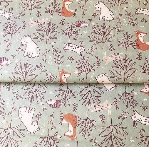 zvieratká na lúke II, 100 % bavlna Francúzsko, šírka 150 cm