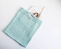 Veľké tašky - Pletená štýlová taška do ruky (mint) - 11856488_