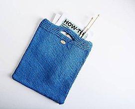 Veľké tašky - Pletená štýlová taška do ruky (kráľ.modrá) - 11856321_