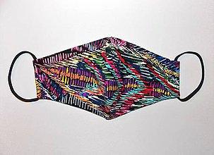 Rúška - Rúško pre dámy Farebná abstrakcia - 11857707_
