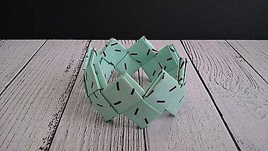 Náramky - Náramok  (Zeleno-čierny) - 11856242_