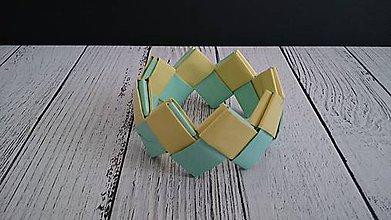 Náramky - Náramok  (Zeleno-žltý) - 11856246_