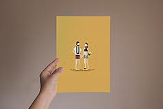 Grafika - Personalizovaný pixel portrét   pre páry (Párik s 1-2 zvieratkami) - 11854229_