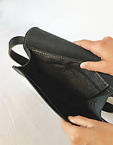Kabelky - Kožená taška cez plece - 11854470_