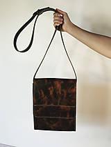 Kabelky - Kožená taška cez plece - 11854564_