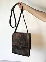 Kabelky - Kožená taška cez plece - 11854565_