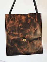 Kabelky - Kožená taška cez plece - 11854567_