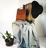 Kabelky - Kožená taška cez plece - 11854568_