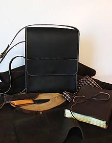 Kabelky - Kožená taška cez plece - 11854487_