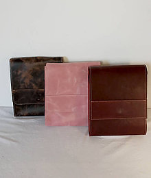 Kabelky - Kožená taška cez plece - 11854569_