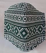 Rúška - Rúško pánske zelené - 11856818_
