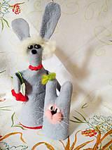 Socha - Mama zajac a malý zajačik - 11856789_