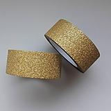 - Akcia - Washi pásky zlatá/strieborná - 11854009_