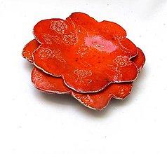 Nádoby - tanierik kvet červený - 11855391_