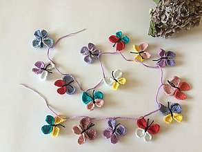 Detské doplnky - Girlanda  (Girlanda motýl) - 11857421_