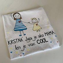 Tričká - Originálne maľované tričko pre KRSTNÚ/ KRSTNÉHO s 2 postavičkami (KRSTNÁ + dievča 6) - 11857480_
