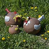 Dekorácie - Sliepka - záhradá dekorácia - 11856067_