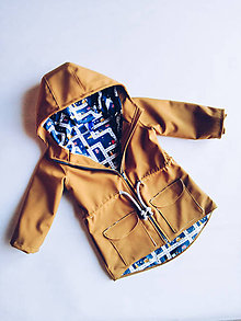 Detské oblečenie - Detská softshellová bunda veľkosť 92 - 11853783_