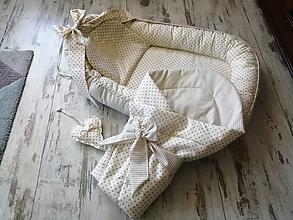 Textil - Béžový set pre bábätko - 11855891_