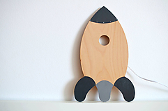 Detská drevená lampa - Raketa