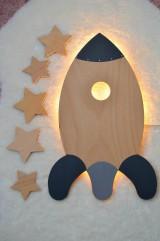 Detské doplnky - Detská lampa - Raketa - 11862553_