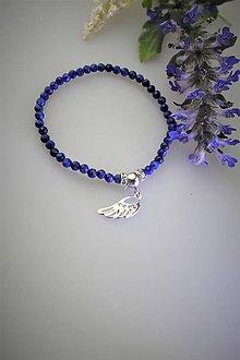 """Náramky - anjelské krídlo striebro - lapis lazuli náramok """"šťastia"""" - 11860126_"""