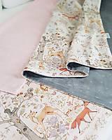 Textil - detská deka lesné zvieratká - 11859594_