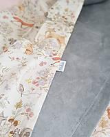 Textil - detská deka lesné zvieratká - 11859595_