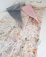 Textil - detská deka lesné zvieratká - 11859598_