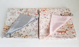 Textil - detská deka lesné zvieratká - 11859599_