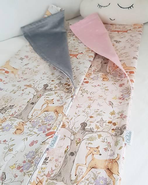 detská deka lesné zvieratká