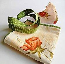 Nákupné tašky - Bavlnená taška na nákup - Ruža - 11861223_