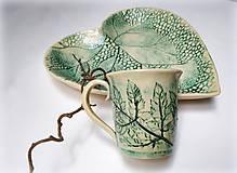 Nádoby - Keramická šálka - rastlinky - 11859730_