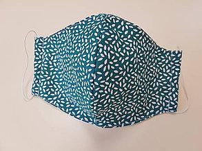 Rúška - Panske bavlnene dizajnove rusko (Zelená) - 11860221_