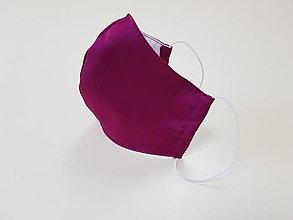 Rúška - Saténové rúško - luxusné elegantné (Cyklamenové rúško) - 11860272_