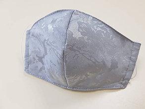 Rúška - Saténové rúško - luxusné elegantné (Šedé rúško) - 11860406_