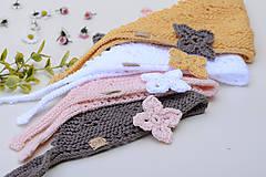 Detské čiapky - Šatka GRÉTKA - na hlavu, na krk pre dievčatká, 100% egyptská bavlna - 11859749_