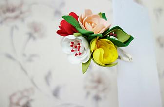 Ozdoby do vlasov - Sponka do vlasov- Kvety I. - 11860366_