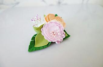 Ozdoby do vlasov - Sponka do vlasov- Kvety II. - 11860415_