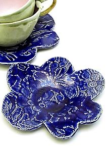 Nádoby - tanierik kvet modrý - 11860233_